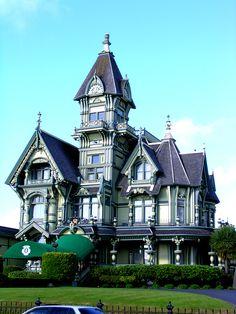 Victorian not in Oregon by RippleInStillWaters.deviantart.com on @deviantART  (Carson Mansion in Eureka, California)