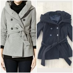 ❗️HOST PICK❗️Peacoat with Big Hood Model picture for style reference only. Actual item is charcoal gray. Exaggerated collar/hood that can be pulled up as high collar or pulled down to shoulders. Zara Jackets & Coats Pea Coats