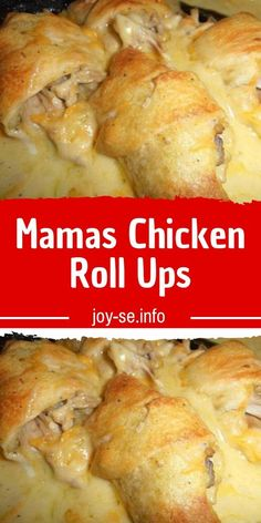 Mamas Chicken Roll Ups - No matter how good I get at cooking, my mother will be better! She's always one step ahead of me, last weekend, she made us these chicken roll-ups, I'm still imagining the taste in my mouth! Check out her recipe. Casserole Dishes, Casserole Recipes, Crockpot Recipes, Cooking Recipes, Burrito Casserole, Easy Meat Recipes, Broccoli Recipes, Cake Recipes, Dinner Recipes