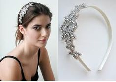 bridal hair pieces - hairband might be easier to wear and looks discreet?