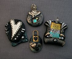 Metallic and Black Pendants | This is a group of pendants I … | Flickr