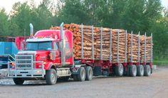 Western Star custom loaded with logs