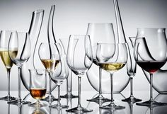 Riedel wine glasses and decanter