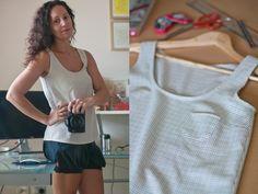 Tiny Pocket Tank by Maryanne Brezovic | Project | Sewing / Shirts, Tanks, & Tops | Kollabora #diy #kollabora #sewing #shirt