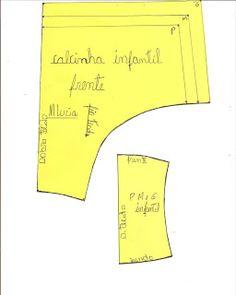 Agulha de ouro Ateliê: MOLDE DE CALCINHA INFANTIL P M e G