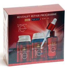 ¡Chollazo! Set Revitalift repair Programme de L'oreal crema de día y noche, 50 ml y sérum 30 ml por 17.86 euros.