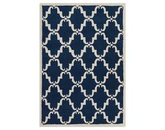 Chandra Davin Rectangular Blue Area Rug | CDDAV25825