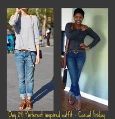 Day 29: Pinterest inspired outfit -- Casual Friday!
