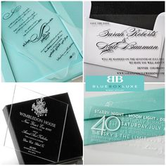 Etched Acrylic Wedding Invitations
