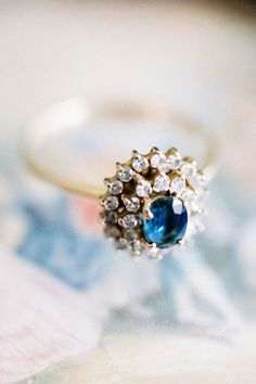 Oval Cut Sapphire + Double Pave Diamond Halo