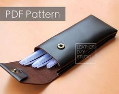 Bag Patterns To Sew, Sewing Patterns, Leather Wallet, Leather Bag, Wooden Lamp, Leather Pattern, Pen Case, Artificial Leather, Custom Leather