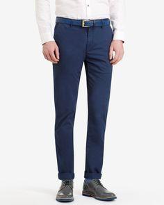 Tall slim fit chinos - Dark Blue   Tall   Ted Baker