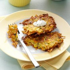Try these garden potato pancakes with zucchini for a savory spin on breakfast