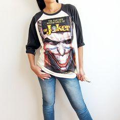 The Joker Baseball Raglan T Shirt Long Sleeve Men Women TShirt Size M on Etsy, $16.99