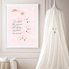 You had the power all along my dear. One for the next generation of women. The wisdom of Glinda the Good Witch from the Wizard of Oz. Believe in yourself  . . . #theprettyaddicted #wizardofoz #glindathegoodwitch #quotesgram #internationalwomensday #women #youhavethepower #qotd #nurserydecor #girlsdecor #pinklover #ihavethisthingwithpink #girlsnursery #pastel_lover #quotestoliveby #quotestoremember #powerfulquotes #powerfulwomen