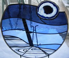 stained glass with agates | Agate Series - Robert Boutin Art Glass - Stained Glass Designs