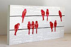 Birds and newspaper