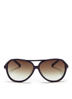 BLANC & ECLARE'Hong Kong' acetate aviator sunglasses