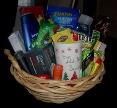 "You could use the ""gift basket"" idea in many ways with themes such as coffee lovers, chocolate lovers, spa, movie night or whatever fits the recipient's interest. Description from homemakingmom.com. I searched for this on bing.com/images"