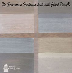 Using two colors of chalk paint to create a washed look.