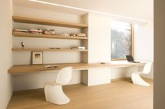 minus, the essence of living  Love the 'build-in' kast & desk
