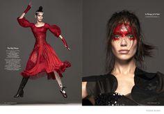 """Heart Beat"" Vogue Netherlands Dec 2014. Amanda Wellsh by Ishi, styled by Marije Goekoop."