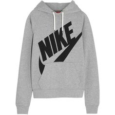 Nike Rally Futura cotton-blend jersey hooded sweatshirt, Size: M (120 BRL) ❤ liked on Polyvore featuring tops, hoodies, sweatshirts, sweaters, shirts, nike hoodie, sweatshirt hoodies, nike hoodies, hoodie shirt and grey hooded sweatshirt
