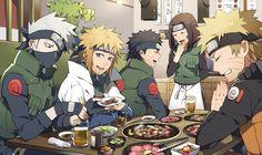 Team Minato and Naruto! And FOOD. Glorious food! Look at that mug! I love that mug!