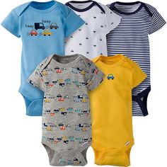b68d1ba0b7 These boys  Gerber Onesies® brand short sleeve bodysuits are a perfect  choice for every. Gerber Childrenswear