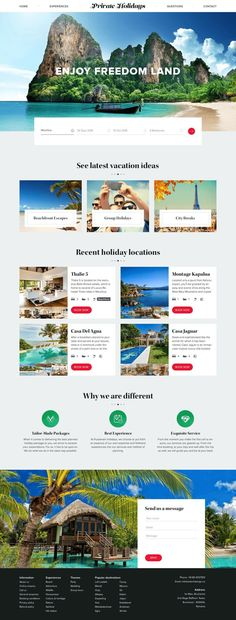 15 Amazing Travel & Tourism Websites That Inspire - Landing Pages - Create a landing pages with drag and drop. Easily make your landing page in 3 minutes. - 15 Amazing Travel & Tourism Websites That Inspire Visual Design, Design Ios, Flat Design, Diy Design, Web Responsive, Design Responsive, Layout Web, Website Layout, Layout Site