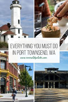 All the best things to do in Port Townsend, Washington. This quaint historic town in Washington on the Olympic Peninsula has everything: restaurants, wineries, breweries, cideries, shopping, state parks, beaches, historic forts...you name it! It makes the perfect Olympic peninsula day trip from Seattle! Port Townsend, Port Angeles, Travel Usa, Travel Tips, Coffee Uses, Olympic Peninsula, I Want To Travel, Tasting Room, Travel Planner