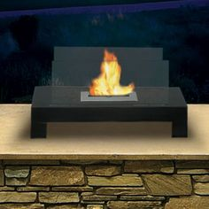 Features:  -Ventless, needs no chimney, no gas or electric hook up.  -Stands on any floor or table top.  -Anywhere Fireplaces Collection.  Product Type: -Ventless fireplace.  Fuel Type: -Bio-ethanol f