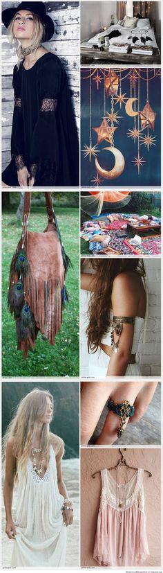 bohemian boho style hippy hippie chic bohème vibe gypsy fashion indie folk look outfit