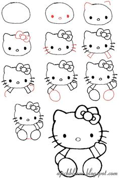 lets draw hello kitty
