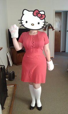 Hello Kitty - Last year's halloween costume