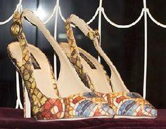 D and G heels, iPad window shopping