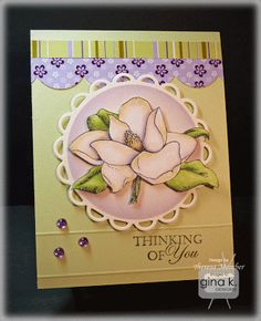 Crafting The Web: Stately Magnolias - stap by step tutorial with colors