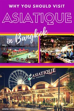 Asiatique in Bangkok, Thailand is full of market stalls, shops, restaurants and bars, and is loads of fun. #Bangkok #Asiatique