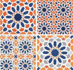 I know we said blue and orange would clash with our decor.I love it anyway :) Morrocan pattern morrocan kitchen Morrocan Patterns, Moroccan Tiles, Tile Patterns, Pattern Art, Textures Patterns, Print Patterns, Pattern Design, Moroccan Stencil, Arabesque