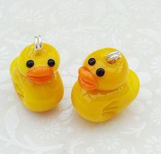 Lampwork Glass Bead Little Duck by shineon2 on Etsy, £4.00