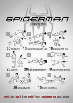 Spider-Man Workout