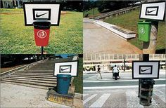 Tenere pulita la propria città vale 3 punti. #justdoit #Guerrilla #Marketing