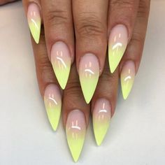 Pearl Mani with Neon Tips