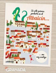#POSTAL #GRANADA #LIBRO #INFANTIL #VIAJES #ILUSTRACION - ¡Oh! Granada es un libro ilustrado bilingüe sobre una de las ciudades más sorprendentes que existen, Granada. Nace de la mezcla de dos pasiones, el amor por los libros y el amor por Granada. postal postcard Albaicín dragon casas houses +INFO https://www.facebook.com/ohgranada Crowdfunding verkami http://www.verkami.com/projects/9999-oh-granada
