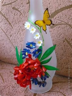 Ваза из пластиковых бутылок Бутылки пластиковые Бутылки стеклянные - plastic bottle