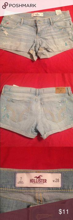 Hollister shorts size 7 New never worn Hollister shorts size 7 Hollister Shorts Jean Shorts