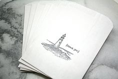 Lighthouse favor bags