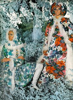 Photo by Arnaud de Rosnay, 1968. Marisa Berenson on the right.