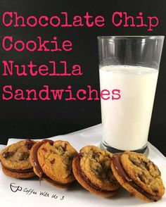 Chocolate Chip Cookie Nutella Sandwiches