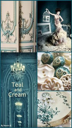 Teal and Cream By Sammie R